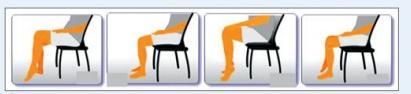 Bài tập khi ngồi cho người bị suy giản tĩnh mạch (Bài Tập 1)