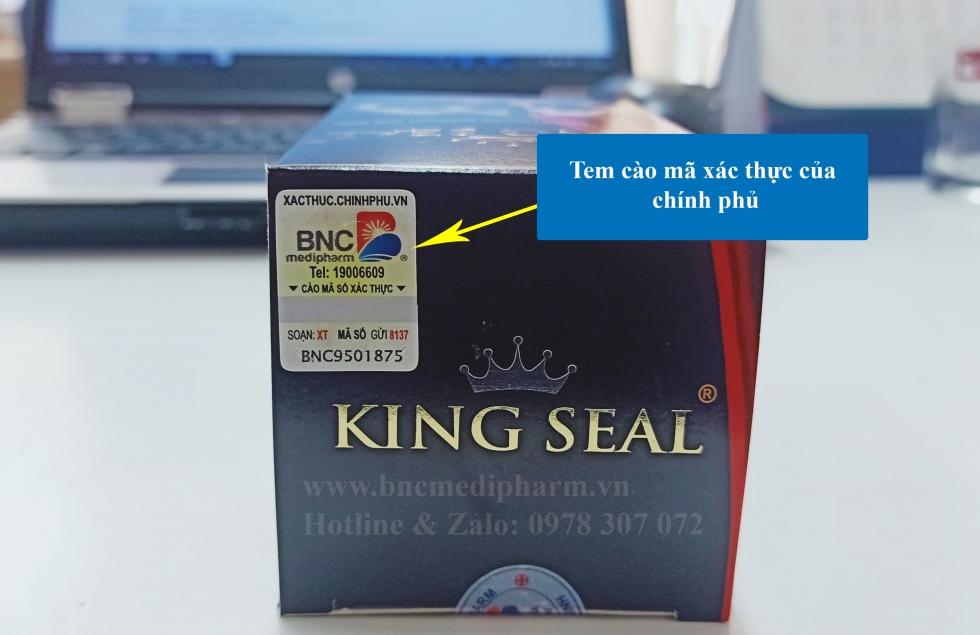 king seal ma xac thuc
