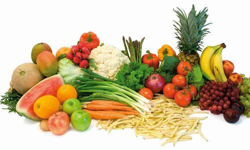 Khô sụn khớp nên ăn nhiều các loại rau  xanh và các loại hoa quả